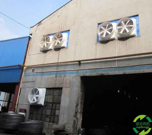 淮南工业排风扇,淮南工业风机在仓库安装